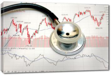 Obraz na płótnie canvas - stock chart analysis - concept