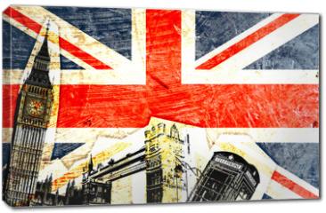 Obraz na płótnie canvas - drapeau anglais