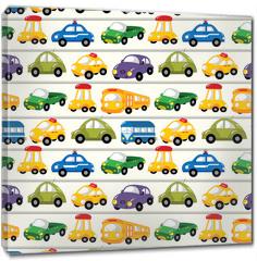 Obraz na płótnie canvas - seamless car pattern