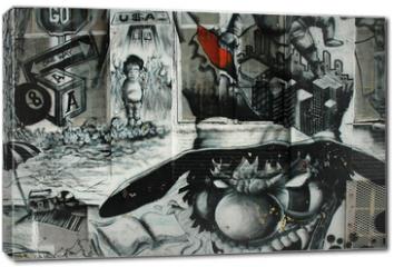Obraz na płótnie canvas - graffiti