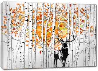 Obraz na płótnie canvas - Hirsch im Wald
