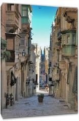 Obraz na płótnie canvas - long view of maltese street