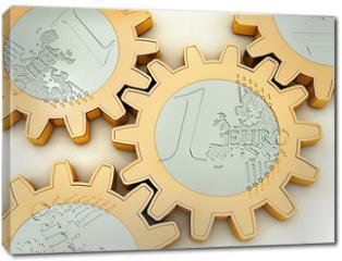 Obraz na płótnie canvas - Euro-Zahnrad