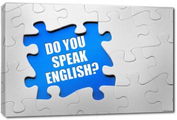 Obraz na płótnie canvas - Do you speak english?