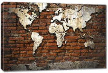 Obraz na płótnie canvas - Cement world map