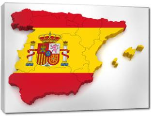 Obraz na płótnie canvas - 3D Map of Spain