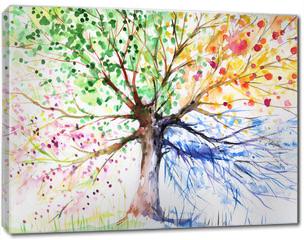 Obraz na płótnie canvas - Four season tree