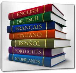 Obraz na płótnie canvas - Stack of dictionaries