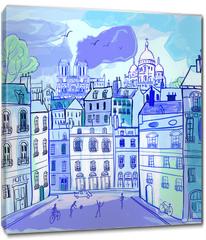 Obraz na płótnie canvas - Paris in watercolor style