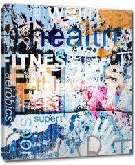Obraz na płótnie canvas - FITNESS. Word Grunge collage on background.