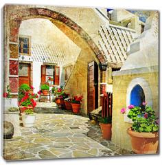 Obraz na płótnie canvas - pictorial streets of Santorini