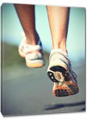 Obraz na płótnie canvas - Runnning shoes on runner