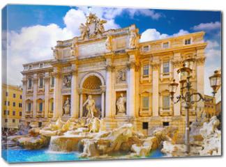Obraz na płótnie canvas - Fountain di Trevi ,Rome. Italy.
