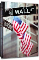 Obraz na płótnie canvas - Wall Street New York