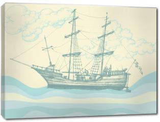 Obraz na płótnie canvas - Vintage sailing boat