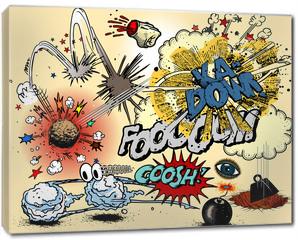 Obraz na płótnie canvas - Comic book explosions