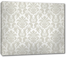 Obraz na płótnie canvas - Vector seamless floral damask pattern