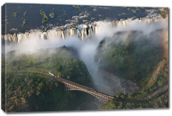 Obraz na płótnie canvas - Cascate vittoria Zambia