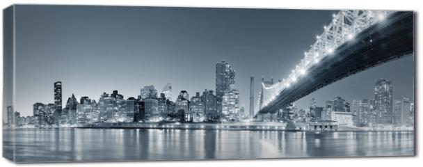 Obraz na płótnie canvas - New York City night panorama