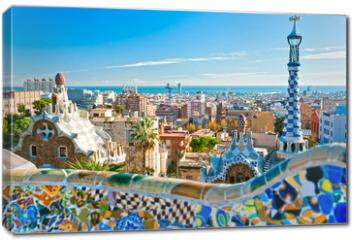 Obraz na płótnie canvas - Park Guell in Barcelona, Spain.