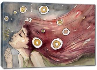 Obraz na płótnie canvas - dmuchawce