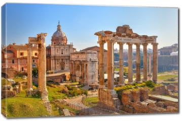Obraz na płótnie canvas - Roman ruins in Rome, Forum