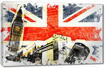 Obraz na płótnie canvas - drapeau anglais decoupe