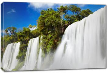 Obraz na płótnie canvas - Iguassu Falls, view from Argentinian side