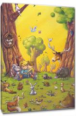 Obraz na płótnie canvas - niños leyendo