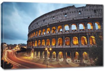 Obraz na płótnie canvas - Coliseum at night. Rome - Italy