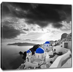 Obraz na płótnie canvas - Santorini with Traditional Church in Oia, Greece