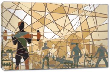 Obraz na płótnie canvas - Mosaic gym