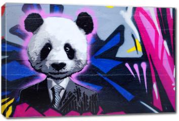 Obraz na płótnie canvas - Suited panda