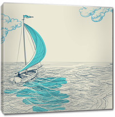 Obraz na płótnie canvas - Sailing vector background