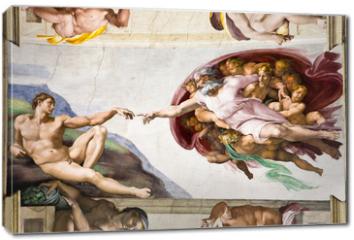 Obraz na płótnie canvas - Creation of Adam by Michelangelo, Sistine Chapel, Rome