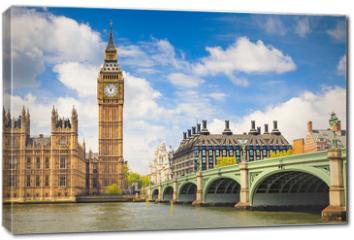 Obraz na płótnie canvas - Big Ben and Houses of Parliament