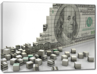 Obraz na płótnie canvas - Puzzle dollar