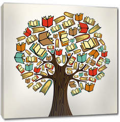Obraz na płótnie canvas - Education concept tree with books