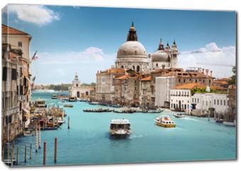 Obraz na płótnie canvas - Grand Canal and Basilica Santa Maria della Salute, Venice, Italy