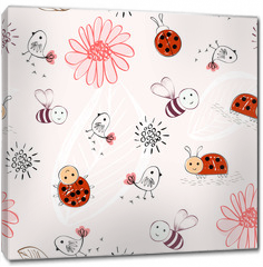Obraz na płótnie canvas - Sweet babies doodle hand draw seamless pattern.