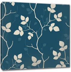 Obraz na płótnie canvas - Wallpaper with leaves. Seamless pattern
