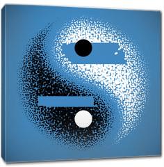 Obraz na płótnie canvas - Yin Yang symbol