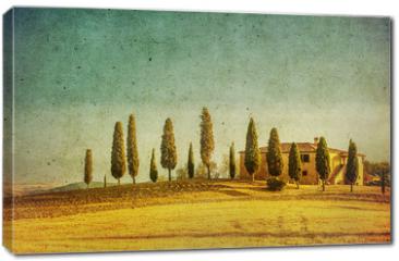 Obraz na płótnie canvas - vintage tuscan landscape
