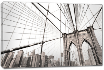 Obraz na płótnie canvas - Manhattan bridge, New York City. USA.