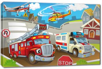 Obraz na płótnie canvas - The vehicles in city, urban chaos