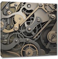 Obraz na płótnie canvas - clockwork 3d illustration