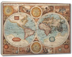 Obraz na płótnie canvas - Old map (1626)