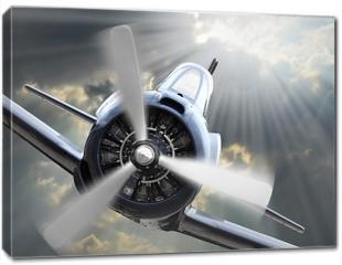 Obraz na płótnie canvas - The Fighter. Retro technology theme.