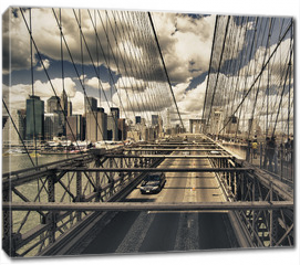 Obraz na płótnie canvas - Brooklyn Bridge view, New York City