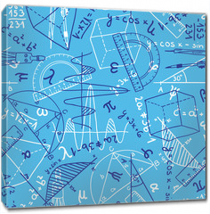 Obraz na płótnie canvas - Mathematics seamless pattern
